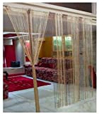 RAMCHA Coffee String Curtain with Silver Lining (2.00)