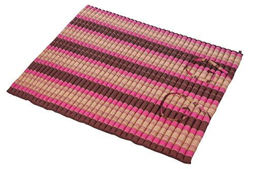 Handelsturm Thaikissen XXL Rollmatte ca. 205 x 150, Thai Kapok Matte, Rollmatte für Massage, als Liegewiese oder zum Spielen, Kissen (Burgunder-Pink)