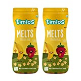 Timios Banana & Strawberry Flavored Melts | Healthy & Natural Finger Food Product for Babies 9+...