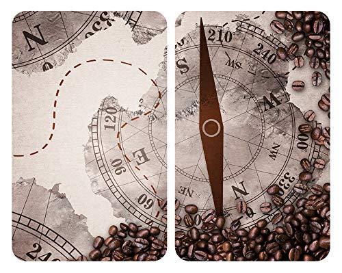 WENKO Herdabdeckplatten Universal Kompass