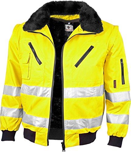 Qualitex-Warnschutz-Pilotenjacke 3 IN 1 NACH EN 471 Farbe LEUCHTGELB Größe XL