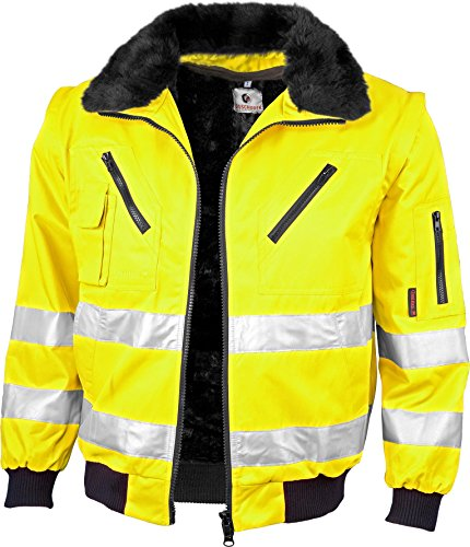 Qualitex-Warnschutz-Pilotenjacke 3 IN 1 NACH EN 471 Farbe LEUCHTGELB Größe L
