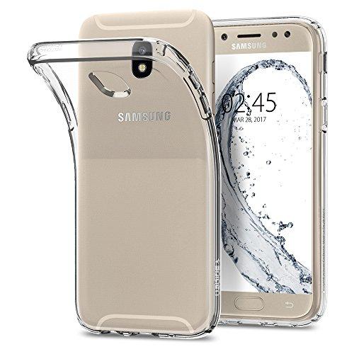 Spigen 584CS21801 Liquid Crystal für Samsung Galaxy J5 2017 Duos Hülle Soft Flex Silikon Transparant Ultra Dünn TPU Case - Crystal Clear
