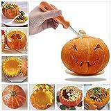 ahanzhu Kit Intaglio Zucca Halloween, 12 Pezzi Strumenti di Zucca di Acciaio Inossidabile, Set di Intagliare Zucca per dulti e Bambini