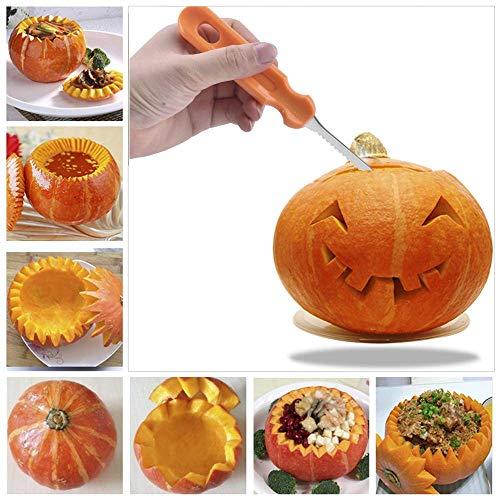 Halloween Kürbis Carving Tools, Halloween 13 Stück Professionelle Kürbis schneiden liefert Werkzeuge Kit Edelstahl Verlängerung