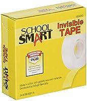School Smart 見えないテープ 0.75インチ×36ヤード クリア 12個パック