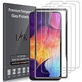 LK Panzerglas Schutzfolie für Samsung Galaxy A50/M30s/M31/M21, 3 Stück, 6.4 Zoll, 9H Festigkeit Panzerglasfolie, HD Klar Bildschirmschutzfolie, [Anti-Kratzen] [Blasenfrei] [2.5D Rand] [Einfacher Montage]