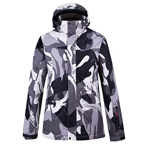 YRFDM Combinaison de Ski,Snowboard Jacket Hommes Veste De Ski Imperméable Épaissir Au Ski en Plein Air Chaud Vestes d'hiver Ski Manteau De Neige Mâle Snowboard, Noir, XL