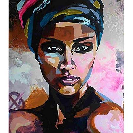 Woman figure Peinture par numéros À faire soi-même noir encre blanche Wall Art Mariage Décoration