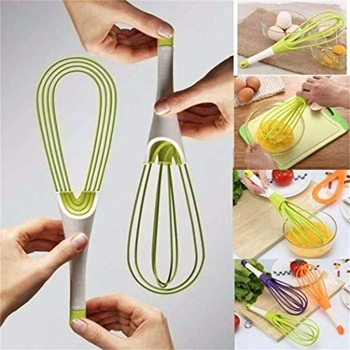 Feriay Multi-functional Rotatable Egg Whisk Hand Mixer Beater Kitchen Cooking Tool Whisks