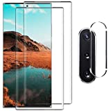 Galaxy Note 10 Plus Screen Protector,[2 Pack]9H Tempered Glass, Ultrasonic Fingerprint Compatible, HD Clear,Bubble-Free,3D Curved for Samsung Note10 Plus 5G Glass Screen Protector