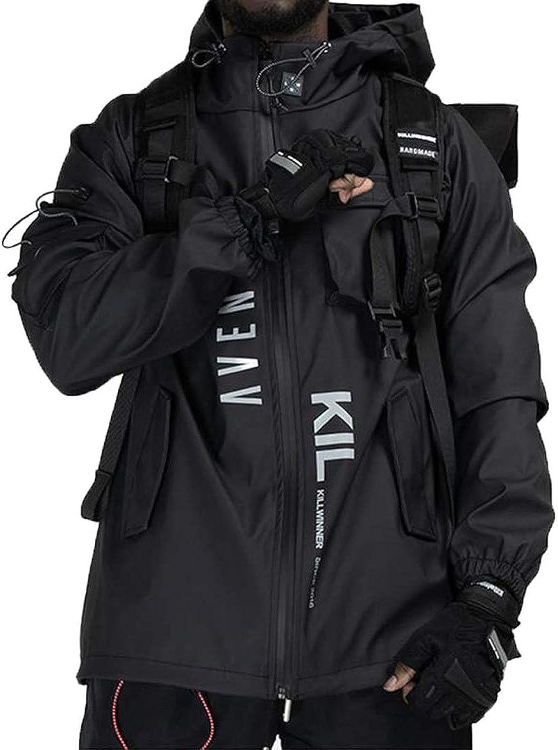 Aelfric Eden Multi Pockets Patchwork Cargo Jackets Streetwear Hip Hop Outdoor Jackets Techwear Windbreaker Harajuku Coat