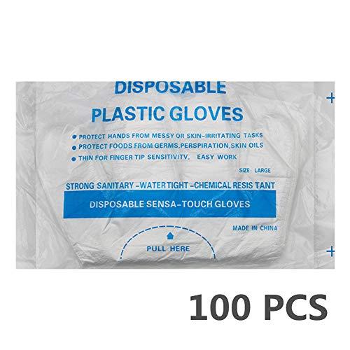Los guantes transparentes para alimentos son ideales para la preparación de alimentos y el servicio de limpieza Los guantes desechables Food Safe no contienen látex 100 PCS por bolsa