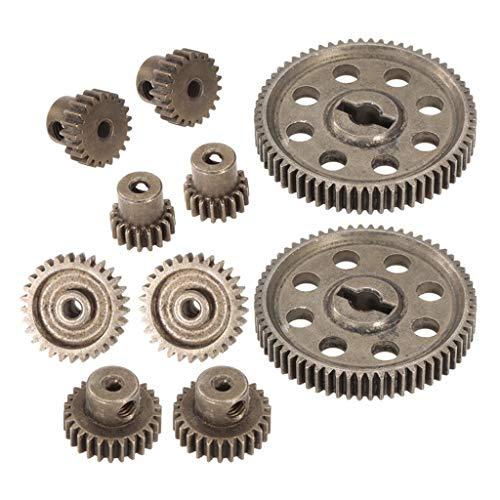 P Prettyia 10 Stück 11184 Stahl Motorrad Getriebe Ritzel Zubehör für 1/10 Hsp Hpi RC Auto