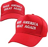 TRUMP002-RED Make America Great Again - Donald Trump 2016 Campaign Cap Hat (002) Red
