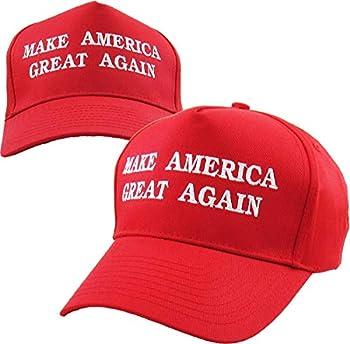 TRUMP002-RED Make America Great Again - Donald Trump 2016 Campaign Cap Hat  002  Red