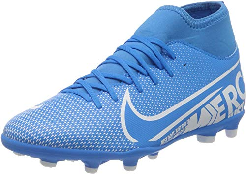 Nike Jr. Mercurial Superfly 7 Club MG, Botas de fútbol Unisex niño, Multicolor (Blue Hero/White/Obsidian 414), 32 EU