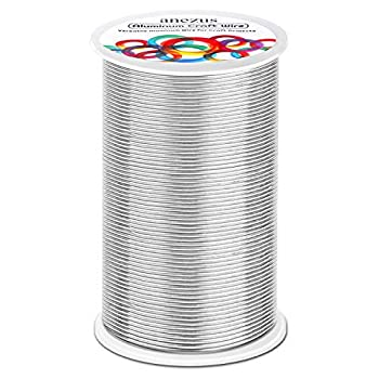 540 Feet Aluminum Wire Anezus Bendable Craft Metal Wire 18 Gauge Flexible Beading Wire for Wreath Making Jewelry Making Floral  Silver 1mm