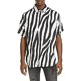 [スビ] メンズ シャツ Animal Print Short Sleeve Button-Up Shir [並行輸入品]