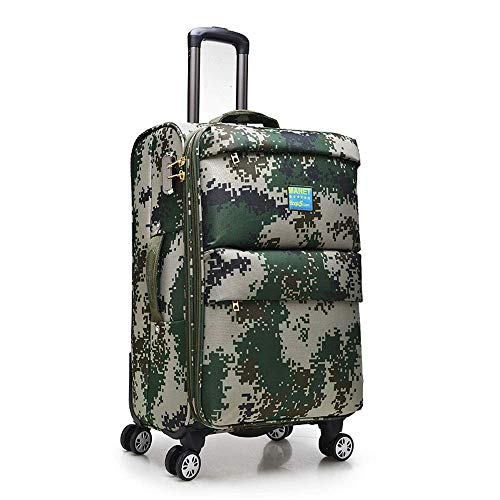 N&W Luggage Suitcase Oxford Bracket Box Universal Wheel Business Suitcase Camouflage 20 Inch 24 Inch Suitcase Men's and Women's Business Travel Suitcase Carry-On (4 Colors) Easy To Carry