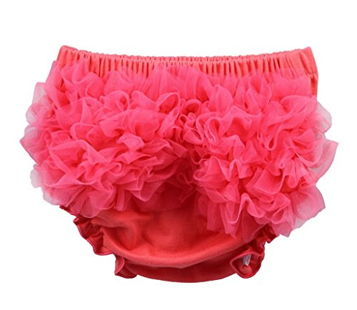 Bigood Culotte Bébé Unisexe Coton Slip Fleurs Elastique Pastèque Rouge Taille de Tour 32cm 6-12mois