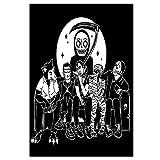 Wsxyhn Lienzo Arte de la Pared Carteles e Impresiones Senses Fail Música Portada del álbum Pintura Imágenes para la Sala de Estar Decoración del hogar -50x70 cm Sin Marco 1PCS