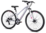 700c Women's Giordano Brava Hybrid Comfort Bike, Silver,Medium