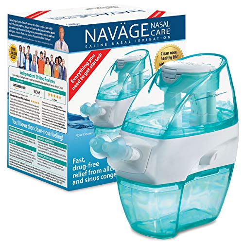 commercial Navage Nasal Care Starter Kit: Navage Nasal Irrigation and 20 Salt Pod Capsules neti pots