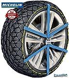 Michelin Easy Grip Evo Lot de 12 chaînes à neige 215/55-18, 215/55-18, 225/55-18, 235/50-18, 245/45-R18, 205/55-19