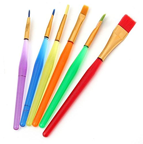 6 PC Decorating Paint Brush Set (Brushes) for Cakes and Crafts - Baking Tools from Bakell