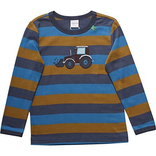 Fred'S World By Green Cotton Crane Stripe T T-Shirt, Bleu (Midnight 019411006), 86 Bébé garçon