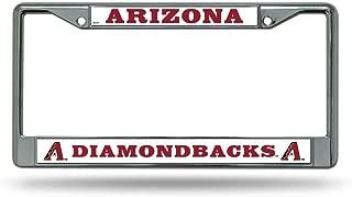 Rico Arizona Diamondbacks Chrome Metal License Plate Frame