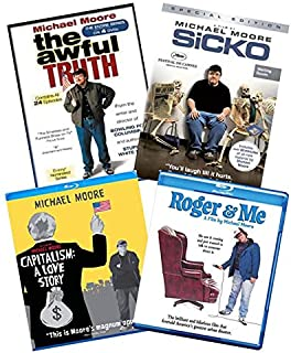 Ultimate MIchael Moore Blu-ray and DVD Documentary Collection: The Awful Truth: The Complete Series (Seasons 1 & 2) [DVD] / Sicko [DVD] / Capitalism: A Love Story [Blu-ray] / Roger & Me [Blu-ray]