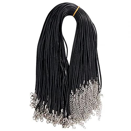 MiOYOOW 100 cordones para collar encerado de 1,5 mm con cierre para pulsera Fai-da-Te Creación joyas