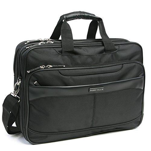 Perry Ellis Laptop/Tablet Business Briefcase, Black