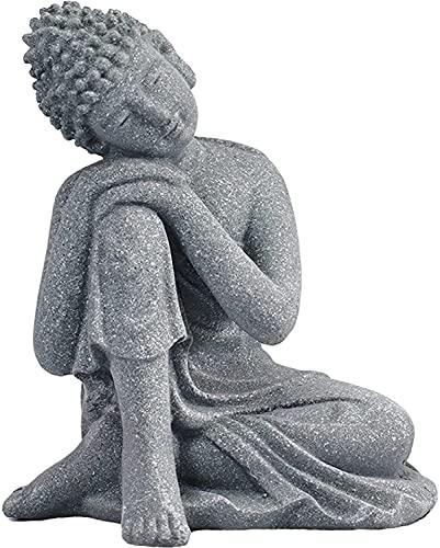MOZHIXUE Meditating Buddha Aquarium Ornaments Buddha Statue Outdoor Buddhas Decor for Fish Tank Home Garden Decor Simulation Handicraft S