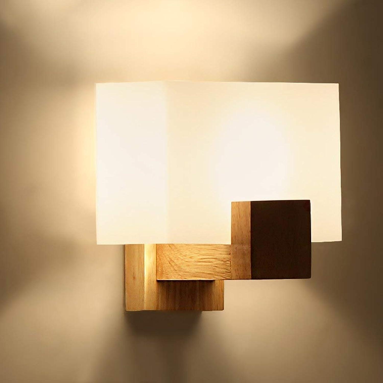 CN Einfache Wandleuchte Moderne Moderne Moderne Eingang Gang Wand Schlafzimmer Lampe Nachttischlampe Holz LED Massivholz Lampen B07K645H17   Räumungsverkauf  1ada32