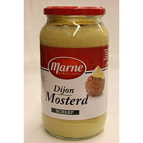 Marne Dijon Mosterd scherp 1000g Glas (Dijon Senf scharf)