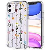 MOSNOVO Wildflower Floral Flower Pattern Designed for iPhone 11 Case,Clear Case with Design Girls Women,TPU Bumper with Protective Hard Case Cover