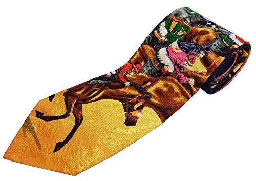 Nouveauté Cravate – Design Course de Chevaux multicolores