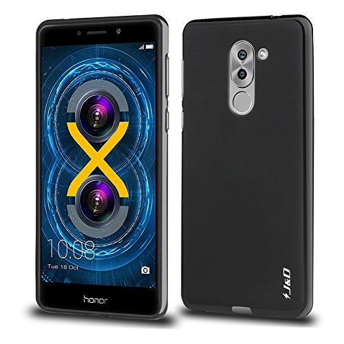 Honor 6X Funda, J&D [Cojín Fino] [Parachoques Ligero] [Protección contra Caídas] Resistente Funda TPU Protectora para Huawei Honor 6X - Negro