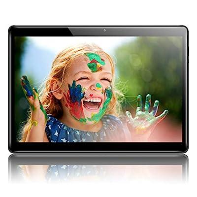 QIMAOO 10.1 Inch Tablet Android 10, Octa-core 128GB ROM 4GB RAM, Google GMS Certified, 5G Wi-Fi, 4G LTE Dual SIM card Slots, Cameras, GPS, HD Glass Screen, Metal Housing, Type-C Charging- Q10 Plus