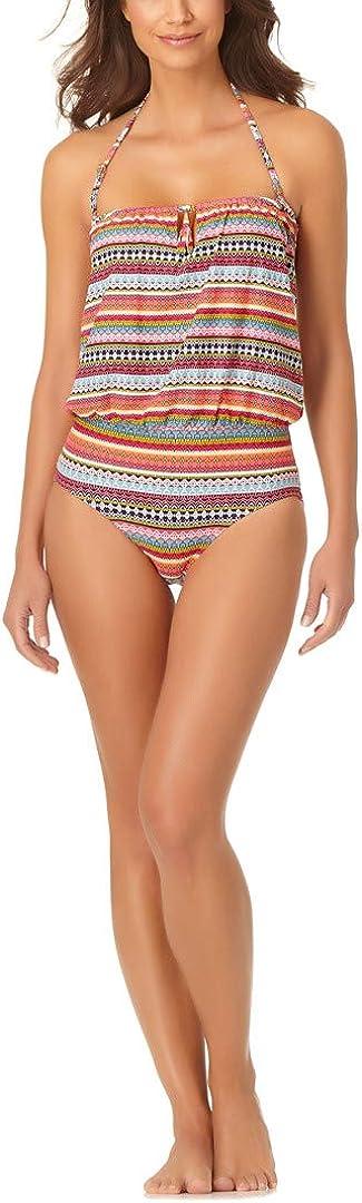 Anne Cole Women's Standard Blousson One Piece Swimsuit