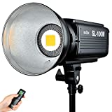 Godox 100W LED Video Light SL-100W, Bowens Mount 5600K 2400LUX, Studio LED,...