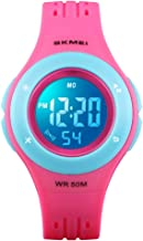 YxiYxi Kids Watch Digital Waterproof for Girls Boys Toddler Cute Sport Outdoor Multifunctional Watches with Luminous Alarm...