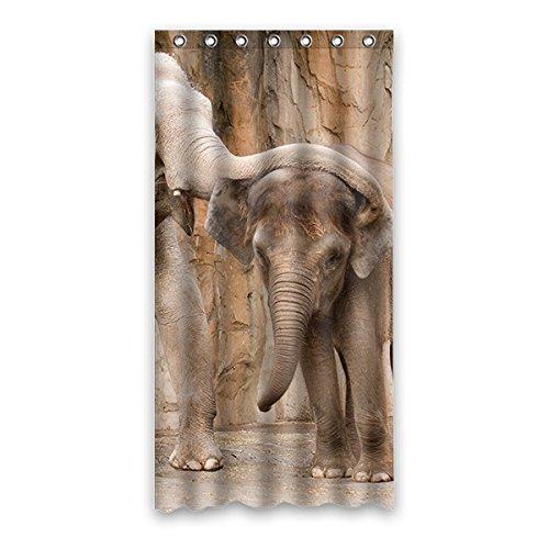 Once Young Verspielt Elefanten Wasserdichtes Badezimmer Polyester Duschvorhang Badezimmer Dekorative 36