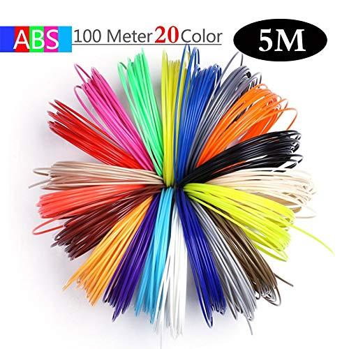 L-SHUNBAO LSB-3D-Druck, 1pack 50/100/200 Meter 1.75mm ABS PLA-Material PLA Filament 3D Refill Kunststoff for Drucker oder 3 D Pen Schule Zeichnung Supplies (Farbe : Blue)