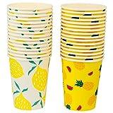 Bicchieri di carta per tè e succo d'acqua da 32 pezzi per bevande usa e getta per feste