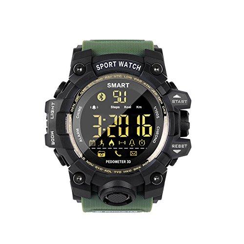 Herren Smart Watch mit Schrittzähler SMS Erinnerung Schrittzähler Schlafüberwachung/IP67 wasserdichte Smartwatch Sport Armbanduhr/Fitness Tracker Aktivität Tracker Sportuhr Kompatibel Android iOS