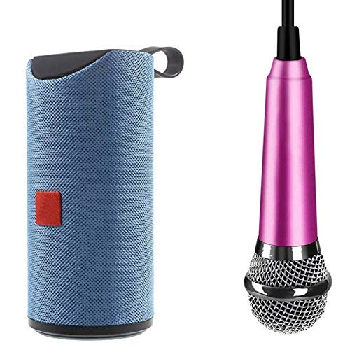 Drumstone [ *Buy BT Speaker Get Mini Microphone Free ] Home Party Mini T&G TG113 Splashproof Speaker with Recorder 220 Wired 3.5mm Microphone for All Smartphones